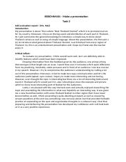 1 Pages BSBCMM401 Self Evaluation ReportTask 2docx