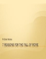 7 Reasons for the Fall of Rome2011-12