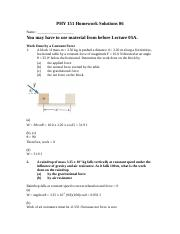PHY 151 Homework Solutions 06