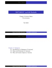 MAT188 Chapter4 Subspaces