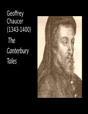 Chaucer ppt