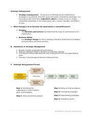 HANDOUT_Strategic Management