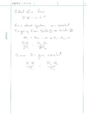 Gas Law Problem Solving Notes