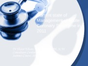 Managing the Acute Coronary Syndrome in 2011,summer course