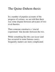 The_Quine_Duhem_thesis