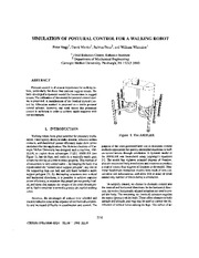 Simulation of postural control for a walking robot