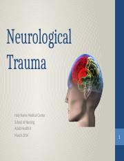 Neurological Trauma 2014.pptx