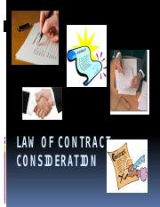 Law of Contract - Consideration.pptx