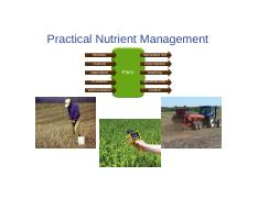 CH 16_Practical Nutrient Mangement