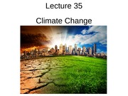Lecture 35 - Climate change