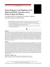 ACTIVE AUDIENCES IN THE REGULATION OF THE AUDIOVISUAL MEDIA