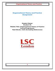 Organisational Theory and Practice.docx