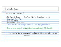 Lecture Notes CSE132 2008-01-15 Introduction
