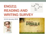 ENG211 Reading and Writing Survey 2015