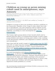 Children as young as seven mining cobalt used in smartphones.docx