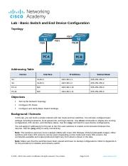 2.9.2 Lab - Basic Switch and End Device Configuration.docx