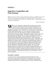 Chapter 13 Imperfect Competition