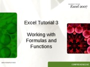 Excel 3 Tutorial
