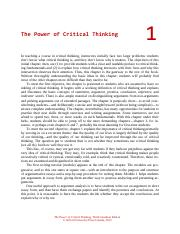 Power of critical thinking vaughn  rd edition answers Oxford University Press