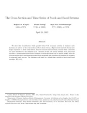 [NBER] The Cross-Section and Time Series of Stock and Bond Returns