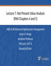 Lecture 7 Net Present Value Analysis.pptx