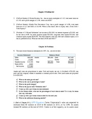 Problem Set Chap 4(Analysis of Fin Statement) and Chap 16(Fin Planning)