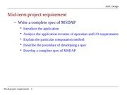 mid term project requirement 2014