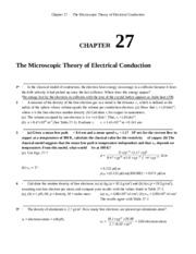 Chapter 27 Homework Solution on University Physics II