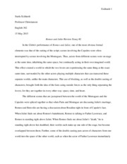 Romeo and Juliet Review Essay 2