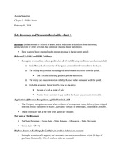 chapter 5 - Revenues and Accounts Receivable