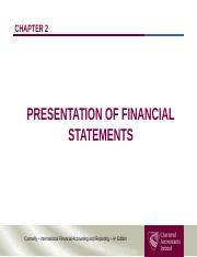 Chapter 02 - Presentation of Financial Statements