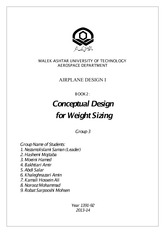 Design book 2-Weight estimation second