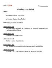 Philippine War Political Cartoon Graphic Organizer