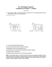 Chapter 4: Minimal SOP Solutions