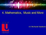 4.2 Math, Music and More - Fourier transform