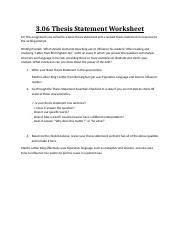 Collection of Find the thesis statement worksheet