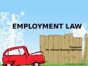 Topic 8 - Employment law (2)
