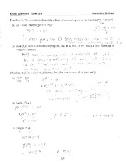 Exam 2 Review Sheet #1 Solutions