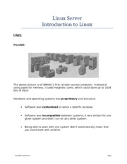Introduction to Linux Summer 2014