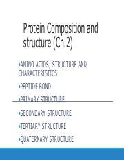 Protein Structure- Primary structure