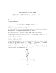 Homework - Exercises and Solutions for Lecture 3+4