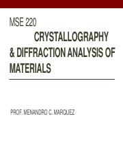 Crystallography and Structure