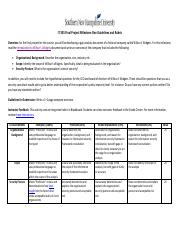 IT 335 Milestone One Guidelines and Rubric