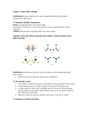 Chapter 7 Study Guide Chirality