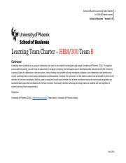 HRM300 LearningTeamCharter_Undergraduate. Team B Updated.docx