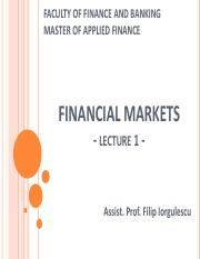 Financial Markets - Lecture 1.pdf