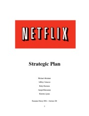 business-policy-2009-netflix-strategic-plan