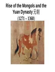 Mongols and Yuan dynasty student.ppt