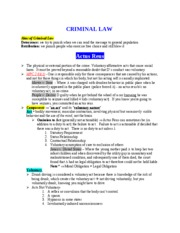 Criminal Law Part 1 of 2