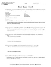 Part II-Study Guide